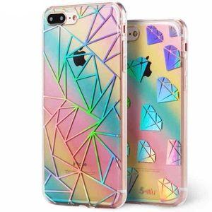 IPhone X Holographic Rainbow Geometric TPU Case